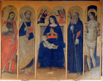 chiesa san benedetto, polittico attribuito a Cristoforo Scacco