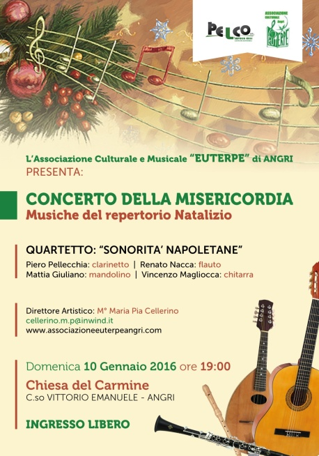 Locandina concerto 10 gennaio 2016 Alfonso