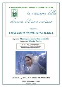 Locandina 2 concerto per Maria 28 maggio 2016