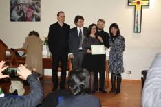 La commissione al completo premia Valeria iacovino