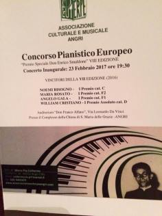Programma del Concerto inaugurale