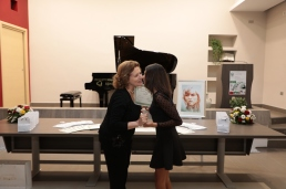 Bacetto a Maria Cuomo
