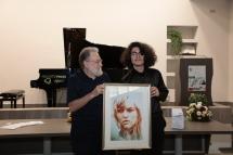 Gerardo e Andrea col quadro